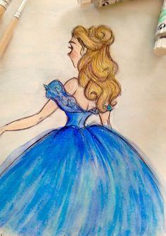 Disney Art Drawings Sketches Princesses Artists Ideas For 2019 Disney Drawings Sketches, Disney Princess Drawings, Drawing Sketches, Drawing Disney, Cinderella Drawing, Cinderella Disney, Disney Princesses, Drawing Tips, Pencil Drawings