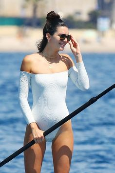 Kendall Jenner just wore the coolest swimsuit while in Cannes and we know exactly where to shop it.