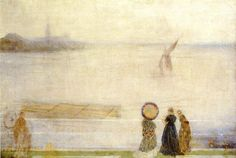 James Whistler - Battersea Reach from Lindsey houses c.1863