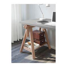 LINNMON / FINNVARD Tisch - grau/Buche - IKEA
