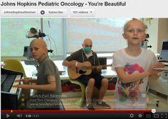 Johns Hopkins Pediatric Oncology kids sing You're Beautiful.