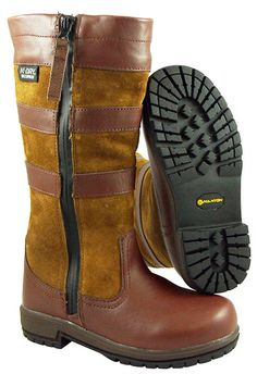 Sapling, Children's waterproof country boot. Handmade with full grain leather and suede. From £74.95
