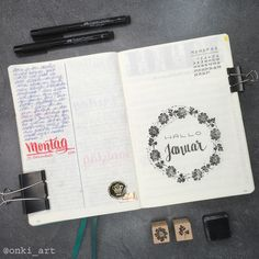 welcome january #bulletjournal #welcomepage #hellojanuary #floralstamps