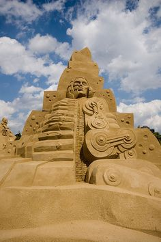 """Sand sculpture by Martin Tulinus and Peter Busch-Jensen called """"The Dualism In Nature""""... this is the back / male side"""