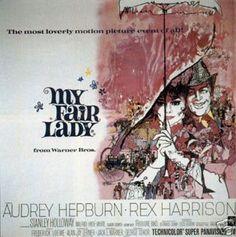 My Fair Lady Audrey Hepburn Vintage Movie Poster