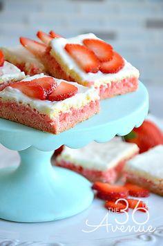 Strawberry Cream Bars...these are delicious!