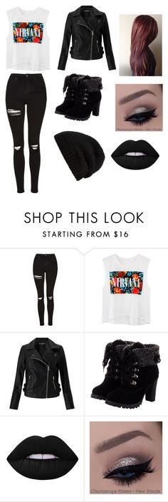"""""""Punk outfit"""" by ebonyadelle2 on Polyvore featuring Topshop, Miss Selfridge, Lime Crime and Rick Owens"""