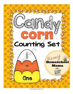 Candy Corn Counting Set with Puzzles, Posters, and Flash Cards 1-20, With Spiders and Webs from HoneyHomeschoolMama on TeachersNotebook.com -  (67 pages)  - This set has cool puzzles, flash cards, and posters that feature bright colored candy corns with spiders and spider webs for counting, showing the number, and the number word.