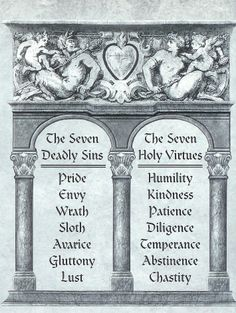 seven sins seven virtues