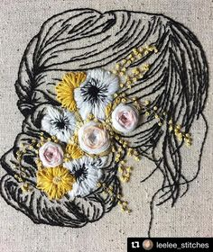 Handcrafting a satin stitch flower embroidery may well be a lost art in the near future. However, this is a skill that anyone can practice and learn and make beautiful embroidery handpieces for all occasions. Hand Embroidery Patterns, Embroidery Art, Embroidery Applique, Cross Stitch Embroidery, Machine Embroidery, Flower Embroidery, Sweater Embroidery, Bordado Tipo Chicken Scratch, Diy Broderie