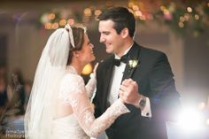 Atlanta Documentary Wedding Photographers Anna and Spencer Photography. Wedding reception: Bride and groom's first dance at the Ritz Carlton Atlanta.