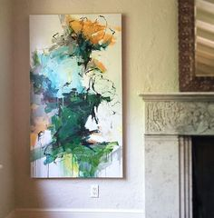 Orange Tulips on Park Avenue 60x34. #nyc #abstract #abstractart…