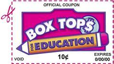 Organized Box Tops - simply organized