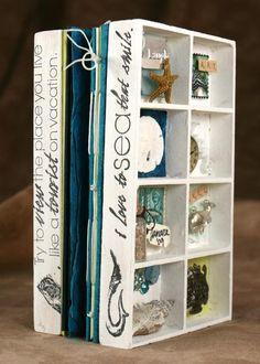 Kay's Keepsakes: Wood Collage Box Mini Albums vacation memories mini.