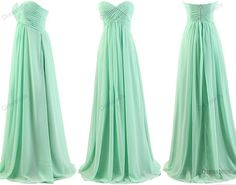 Mint bridesmaid dress  long bridesmaid dresses tons of colors / by dresstells, $99.99
