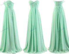 Mint bridesmaid dress  long bridesmaid dresses / by dresstells, $109.99
