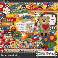 Bear Workshop - Kit free gift from Connie Prince to her club facebook group. Come join us! https://www.facebook.com/groups/ConniePrince/