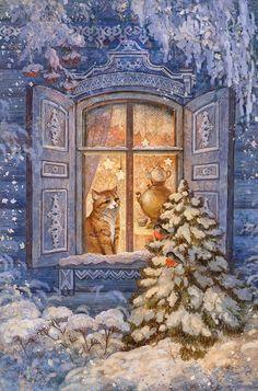 Winter cat by ArtGalla on DeviantArt