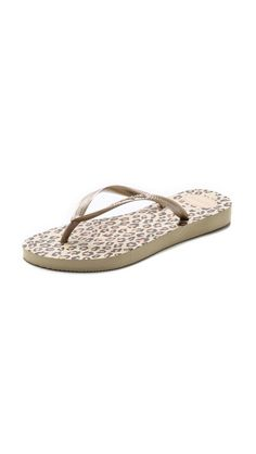 57184dd37c1cee Havaianas Slim Leopard Flip Flops Burberry Brit