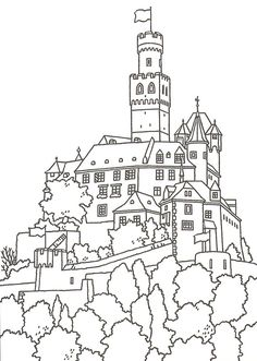 great castles games castle coloring book