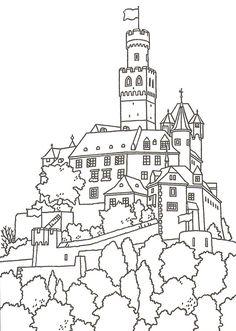 Great Castles - Games - Castle Coloring Book