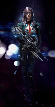 Looking for some badass cyberpunk girl designs? Get inspired & check out these awesome female character concept artworks. Science Fiction, Fan Fiction, 3d Fantasy, Fantasy Warrior, Fantasy Girl, Dark Fantasy, Female Character Concept, Character Art, Ashe League Of Legends