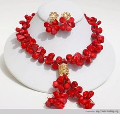 17 Elegant Red Coral Bead Jewelry Ideas...Exclusively For Nigerian Brides  
