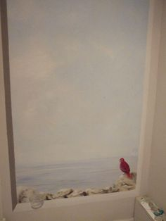 Trompel' oeil oiseau. peintredecor.com