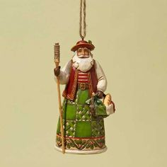 Jim Shore Heartwood Creek Italian Santa Christmas  Ornament
