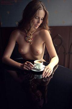 eroticedibles:  totallytatas:  horndoggieerotica:  Good Morning HornDoggies!!  TotallyTaTas  Sexy coffee
