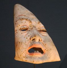 Masks from the estate of James Ensor, exhibition at the Gemeente Museum, The Hague