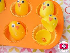 """Chicks lay a jelly bean seed, you """"plant"""" it before Easter and up comes a Lollipop flower. So cute!"""