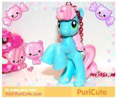 my little pony sweetie blue kawaii rave by chippednailpolish, $10.00