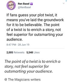 this goes out to every fanbase who's felt betrayed because a character or plot was ruined for pure shock value Book Writing Tips, Writer Tips, Writing Boards, I Am A Writer, Creative Writing Prompts, Writing Quotes, Writing Resources, Writing Help, Writing Skills