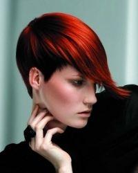 glossy short hair