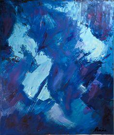 huile sur toile 50x61cm #bleu #peinture #abstrait #tableau Deep Blue, Buy Art, Saatchi Art, Original Art, Canvas Art, Sky Painting, Painting Abstract, The Originals, Art Oil