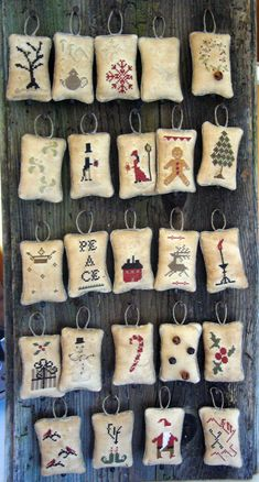 My dear friends, is now available my WHIMSICAL ADVENT CALENDAR : 48 designs that you'll be able to stitch to create a complete advent calend...