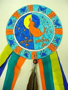 4th grade symmetrical Native American Shield