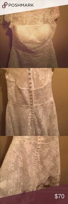 New Wedding Dress, Tea length. Bought this dress off of EBay as a potential wedding dress. It is from China but it is absolutely beautiful it just didn't fit. 😪 it's suppose to be a US 14 but I'm listing it as a 12. Someone took a lot of time to sew this dress. I was very impressed by the stitching, etc. Asian sizes and USA sizes are a bit different. 😀 1955 Vintage Dresses Wedding