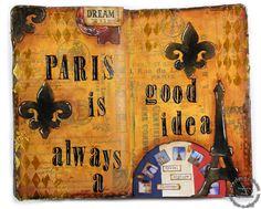 Art Journal layout – Paris (Clips-n-Cuts » Art Journal)