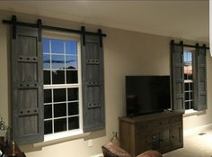 Barn Door Rustic Shutters - Home Decor - Rustic Decor available at woodennail.etsy.com - Custom Orders Welcome