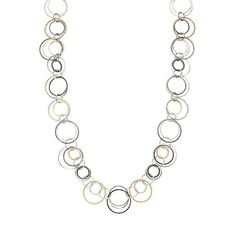Doesn't have to be just like this - just to give you an idea of something I really need/want... Jennifer Lopez Textured Circle Link Long Necklace