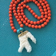 Summer's here! Just bought this adorable coral necklace. Adore.