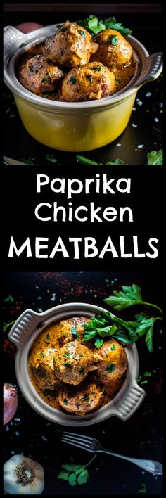 You will love my paprika chicken meatballs! These tender chicken meatballs covered in a decadent paprika sour cream sauce are the perfect cold weather comfort food.