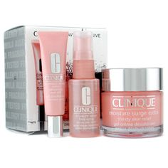 Clinique Moisture Surge- LOVE the spray. Great for us flight attendants who need to rehydrate after a long flight!