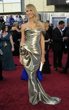 Stacy Keibler in Marchesa at the 2012 Academy Awards.