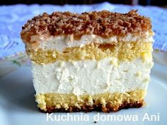 AFRODITA- FOI CU CREMA BRANZA SI CREMA COCOS SI GEM CAISE Vanilla Cake, Sweet Tooth, Cheesecake, Food And Drink, Menu, Cooking Recipes, Favorite Recipes, Sweets, Baking