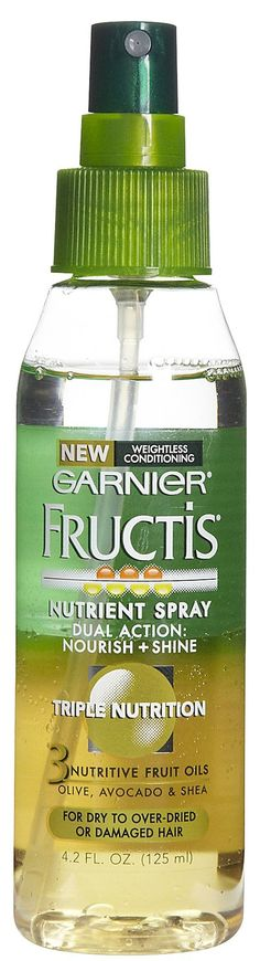 Garnier Fructis Triple Nutrition Nutrient Spray. I use this stuff all the time (: