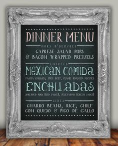 Signature Cocktail Menu /// Custom Wedding Decor Printable