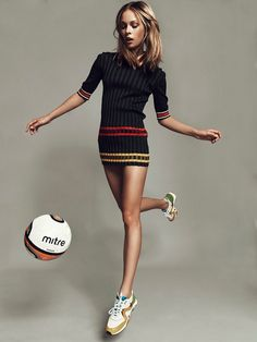 football fashion shoot5 Football Star: Lys Inger Poses for Igor Oussenko in Stolnick